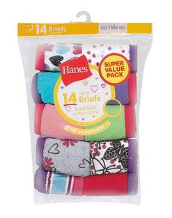 Hanes Girls' ComfortSoft® Briefs 14-Pack