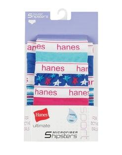 Hanes Ultimate® Girls' Sport Microfiber Hipsters 5-Pack
