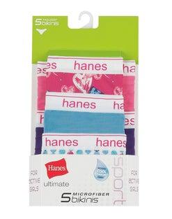 Hanes Ultimate® Girls' Sport Microfiber Bikinis 5-Pack