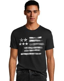 Men's Black & White Flag Graphic Tee