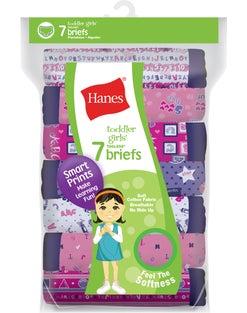 Hanes Toddler Girls' Briefs Cotton Briefs 7-Pack