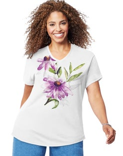JMS Coneflower Shadow Short Sleeve Graphic Tee