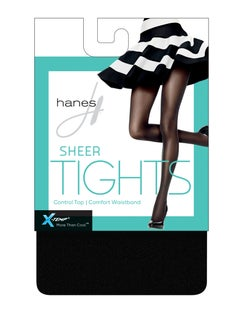 Hanes X-Temp® Sheer Control Top Tights with Comfort Waistband