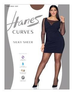 Hanes Curves Silky Sheer Control Top Legwear