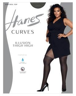 Hanes Curves Illusion Thigh Highs