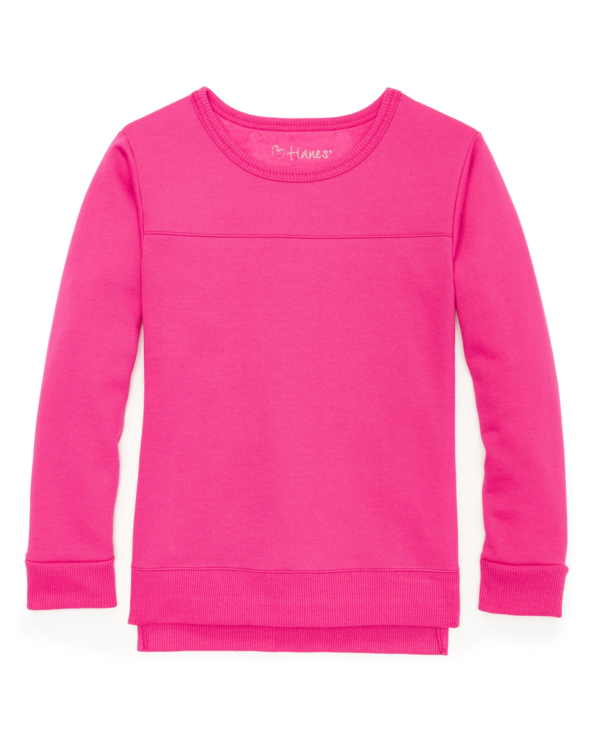 Hanes Big Girls Comfortsoft Ecosmart Fleece Sweatshirt/_White/_XL