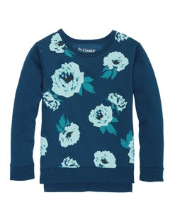 Hanes Girls' High-Low Graphic Sweatshirt