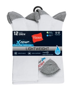 Hanes Men's FreshIQ™ X-Temp® Crew Socks 12-Pack