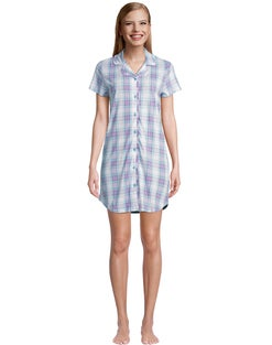 Muk Luks Two Hearts Plaid Sleepshirt