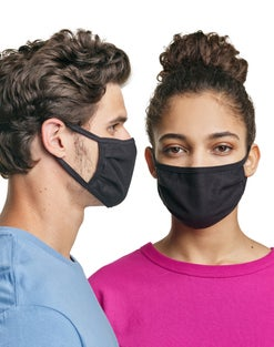 Hanes Wicking Cotton Masks 50-Pack