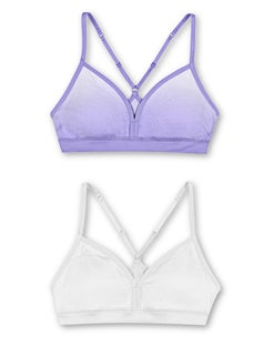 Hanes Girls' ComfortFlex Fit® Pullover Bra with Adjustable Racerback Straps 2-Pack