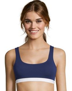 Hanes Cotton Stretch Comfort Flex Fit® Wirefree Bra 2-Pack