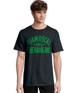 Men's ComfortSoft® Shamrocks & Shenanigans Graphic Crewneck Tee