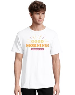 Adult Good Morning Short Sleeve Graphic Tee
