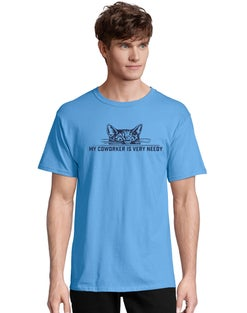 Adult Cat Coworker Short Sleeve Graphic Tee