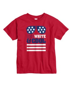 Hanes Kids' Red White & Cool Short Sleeve Graphic Tee