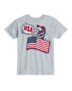 Hanes Kids' Patriotic T-Rex Short Sleeve Graphic Tee