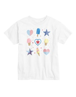 Hanes Girls' Americana Sweet Short Sleeve Graphic Tee