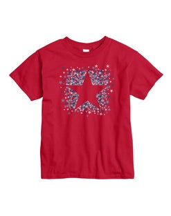 Hanes Girls' Star Spangled Short Sleeve Graphic Tee