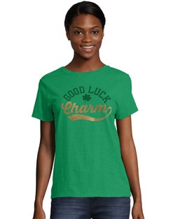 Women's ComfortSoft® Good Luck Charm Graphic Crewneck Tee