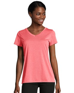 Hanes Sport™ Women's Heathered Performance V-Neck Tee