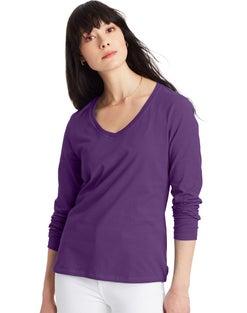 Hanes Women's Long-Sleeve V-Neck T-Shirt