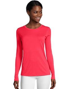 Hanes Sport™ Cool DRI® Women's Performance Long-Sleeve T-Shirt