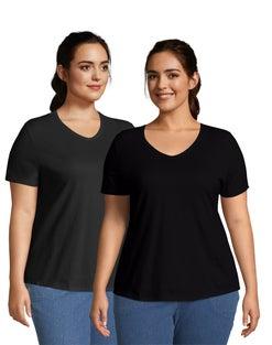 JMS Cotton Jersey V-Neck Short Sleeve T-Shirt, 2 Pack
