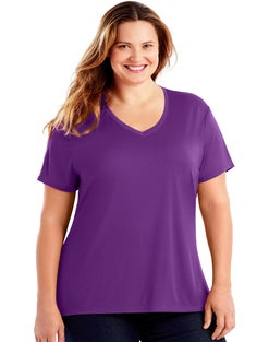 JMS Cool DRI® Short-Sleeve Women's V-Neck Tee