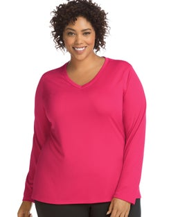 JMS Active Long Sleeve Cool Dri® V-Neck Tee