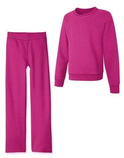 Hanes Girls' EcoSmart® Crew Sweatshirt and Sweatpant