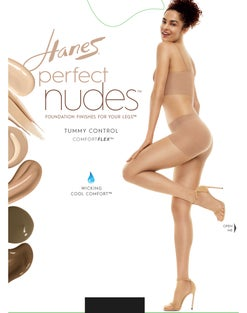 Hanes Perfect Nudes™ Run Resistant Tummy Control Girl Short Hosiery