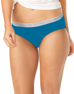 Hanes Cool Comfort™ Women's Cotton Sporty Hipster Panties 6-Pack