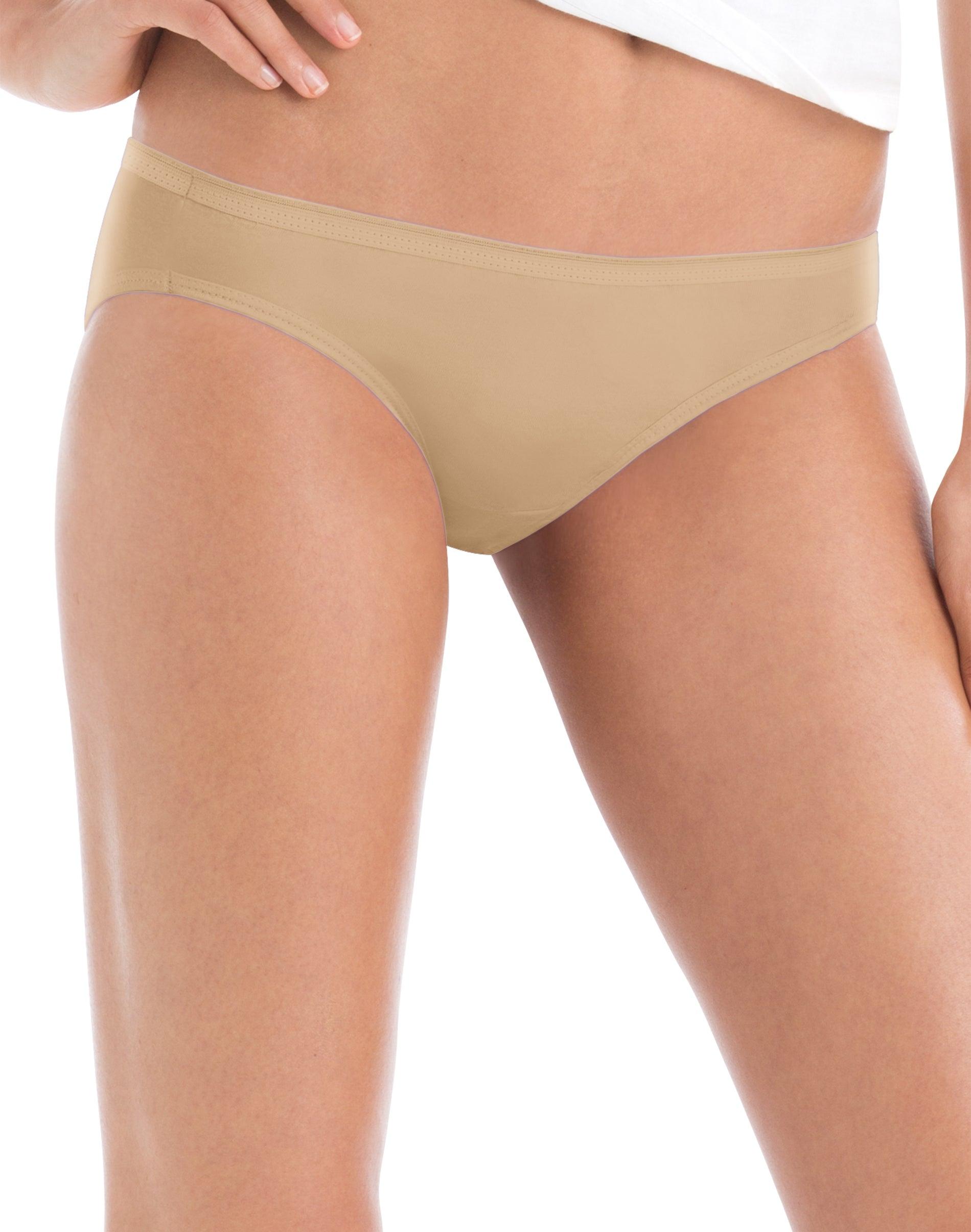 Hanes Womens Cool Comfort™ Cotton Tagless Bikinis Size 8 XL 8-Pair New