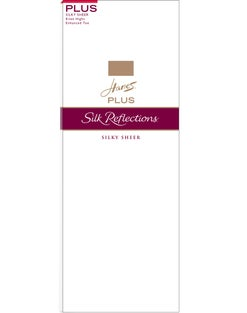 Hanes Silk Reflections Plus Knee Highs 6-Pack