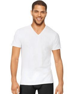 Hanes Men's Stretch V-Neck Undershirt 3-Pack