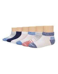 Hanes Toddler Boys' Low Cut Socks 6-Pack