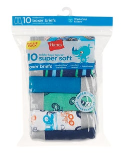 Hanes Toddler Boys' Boxer Briefs 10-Pack