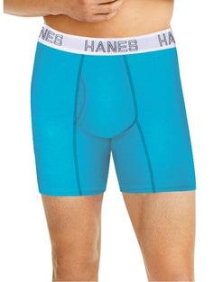 Hanes Ultimate® Men's Comfort Flex Fit® Cotton/Modal Boxer Briefs Assorted 3-Pack