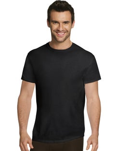 Hanes Ultimate™ Men's  Comfort Fit Ultra Soft Cotton/Modal Undershirt Assorted Black/Grey 4-Pack