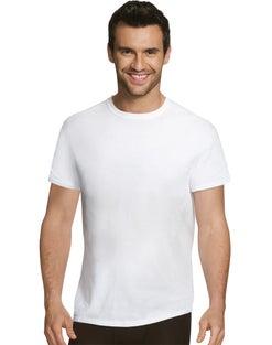 Hanes Ultimate™ Men's Comfort Fit White Crewneck Undershirt 4-Pack