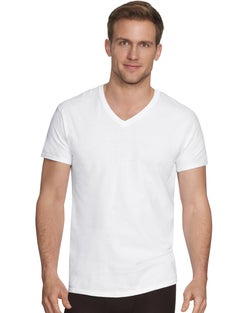Hanes Ultimate™ Men's Comfort Fit White V-Neck  Undershirt 4-Pack