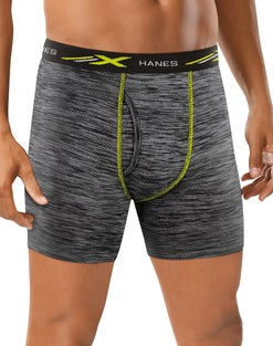 Hanes X-Temp® Mesh Performance Space Dye Boxer Briefs 4-Pack