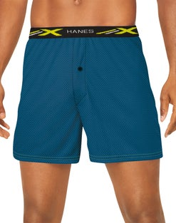 Hanes X-Temp® 4-Way Stretch Performance Mesh No Gap Fly Boxers 2X 3-Pack